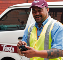 Drivers fast delivers the job with their hand held PDA guides.