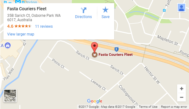 Fasta Couriers are located in Perth - Western Australia